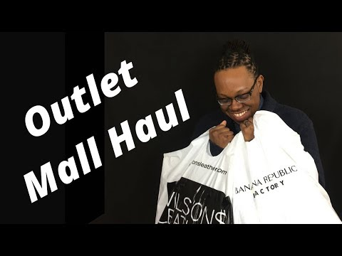Outlet Mall Haul 2018 | Banana Republic & Wilsons Leather