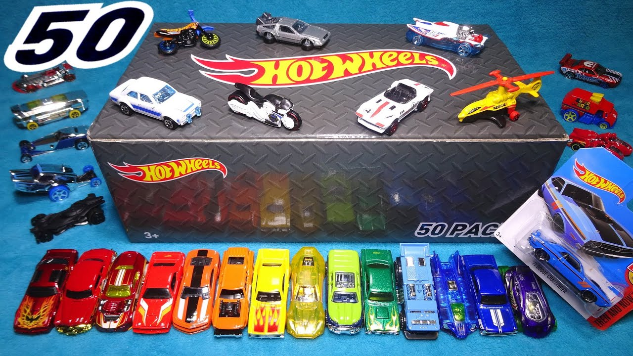 Opening Hot Wheels 50 Pack Surprise Car Box 50 Random