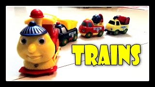 Choo Choo Train - Children Playing With Wooden Train Set, Kids Playtime By Jeannetchannel