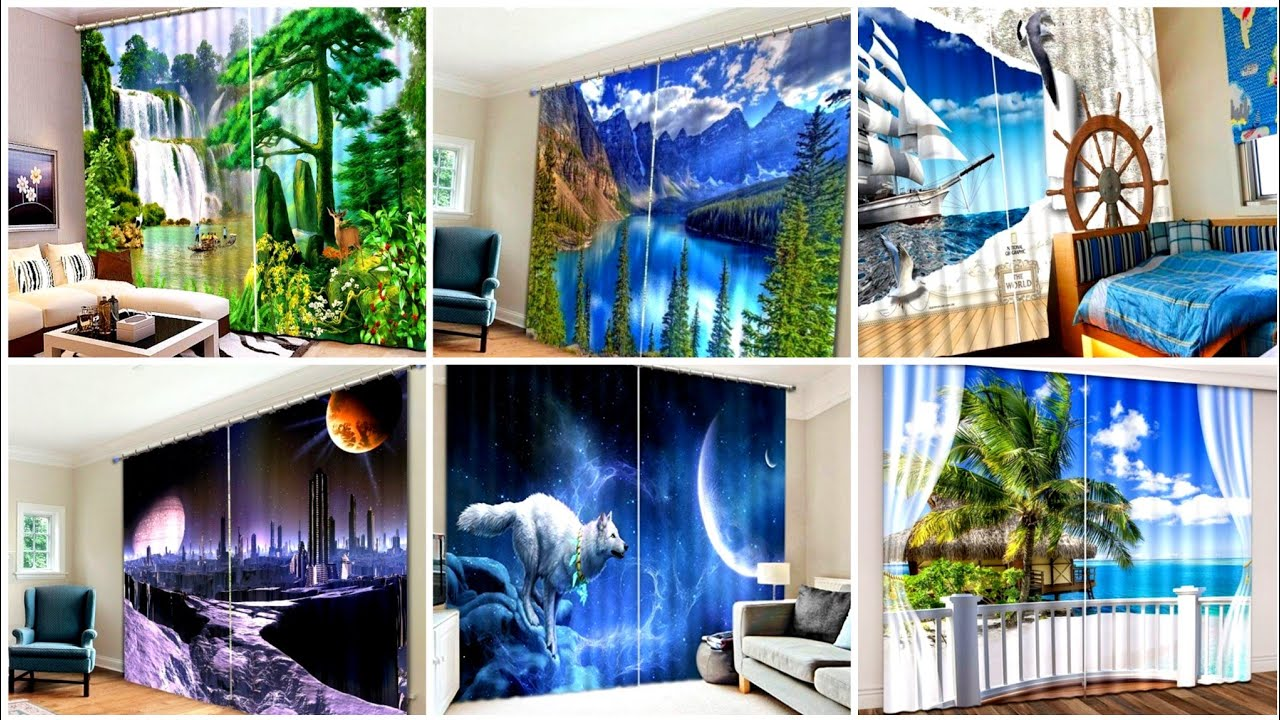 Amazingly beautiful 3d print curtains to design your dream for Dream house 3d