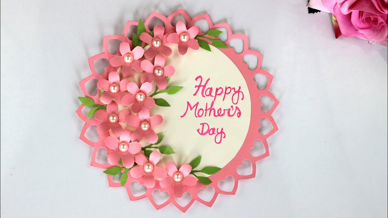 Diy Mother S Day Card Mother S Day Card Making Handmade Card For Mom How To Make Birthday Card Youtube