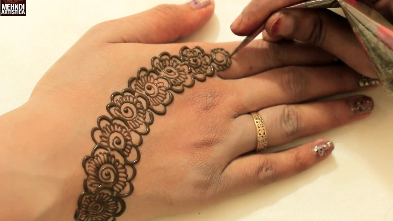 Unique Floral Fair Mehndi Design Easy Simple 2 Mints Haathphool