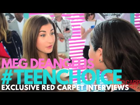 Meg Deangelis interviewed at the 2016 Teen Choice Awards Teal Carpet #TeenChoice