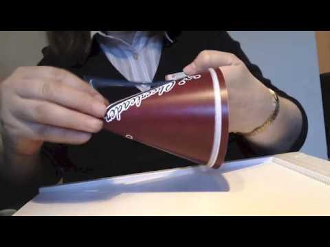 Cheerleader Megaphone Treat Box
