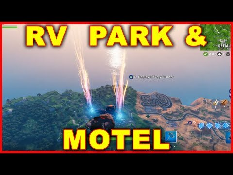 Fortnite: RV Park & Motel Location (Search Chests & Ammo OVERTIME CHALLENGE)