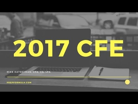 2017 Common Final Examination (CFE)