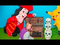 ASSISTANT Save Mickey Mouse and Minnie With Pokemon and Captain Hook in Real Life