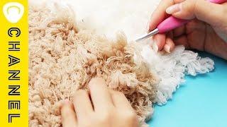 ふわふわ&温かい「編みカーペット」でくつろぎたい♪ | DIY of fluffy knitting carpet thumbnail