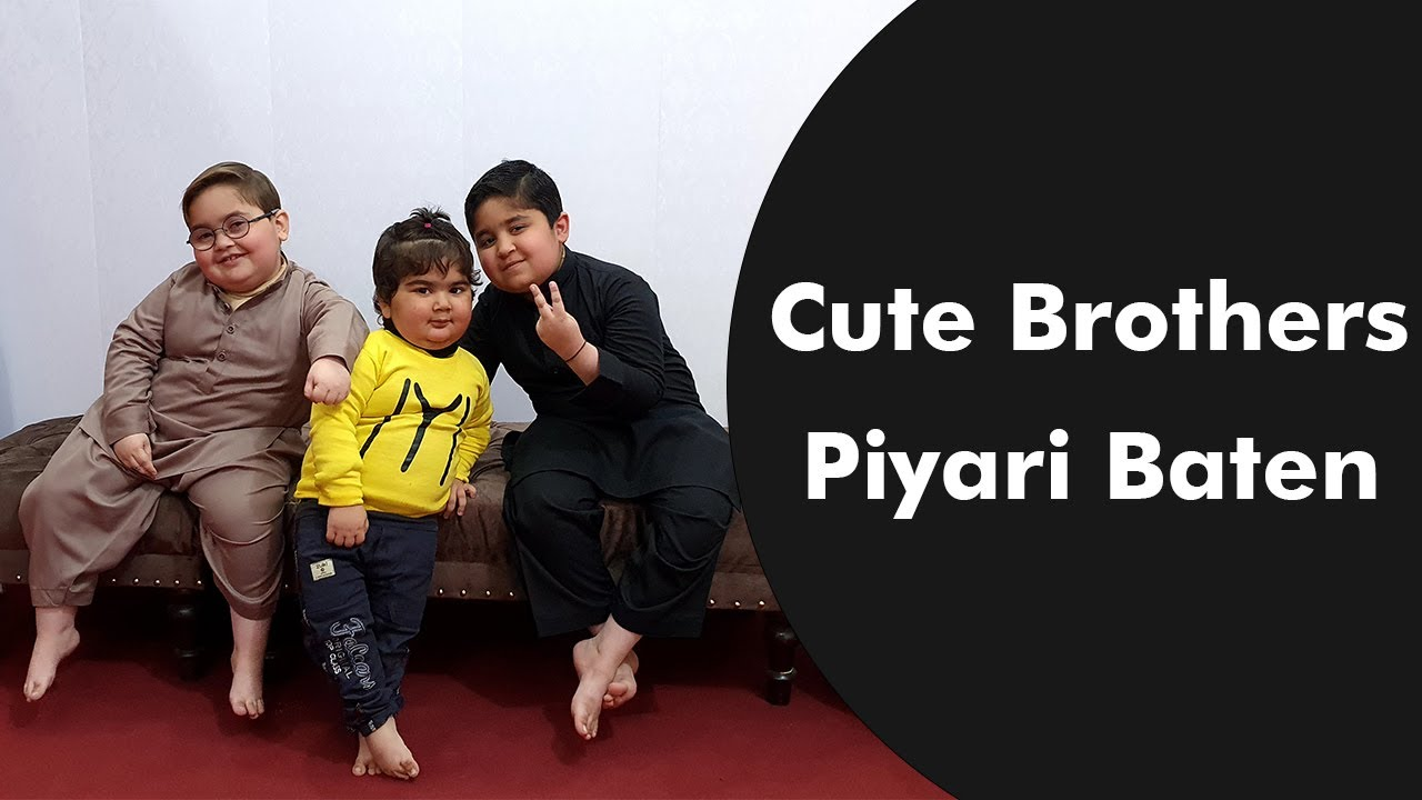 Ahmad Shah with his Cutest Brother's Umer and Abubakar Cutest Video 2021