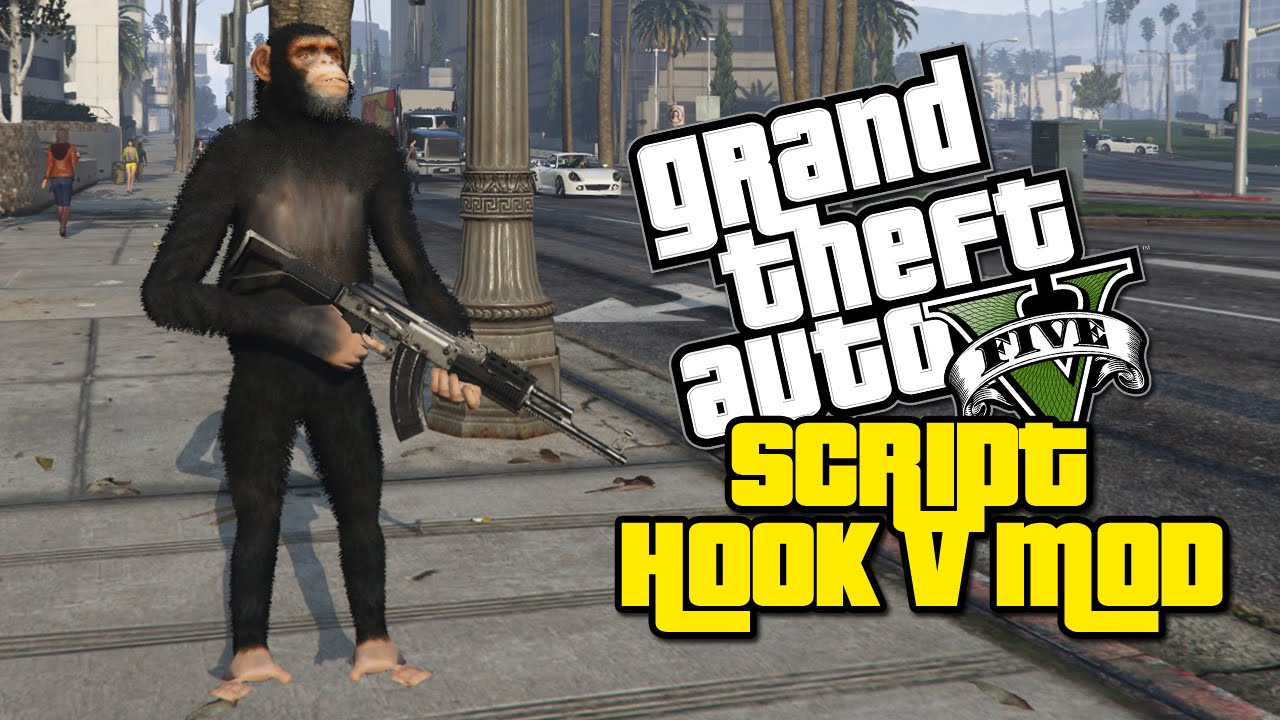 Monkey With a Gun! | GTA V Mod Showcase | (GTA V Script Hook V Mod / Native  Trainer)