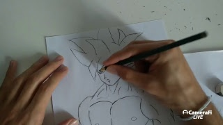 Como desenhar o Goku (Limit Breaker) - Tutorial passo a passo