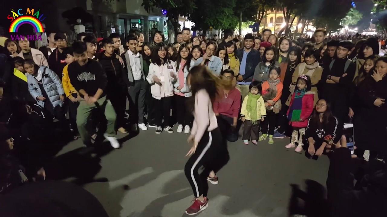 Nhảy ngẫu hứng cùng bạn nữ xinh đẹp nóng bỏng | Phố Đi Bộ phấn khích | Street Dance #1