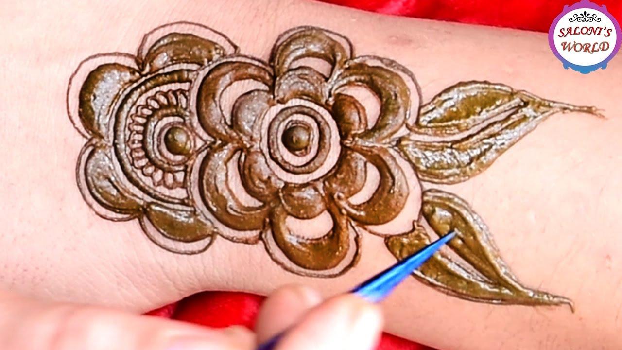Simple & Easy Mehndi Design   3D Arabic Mehndi Design for Hands   Mehndi Designs by Jyoti Sachdeva