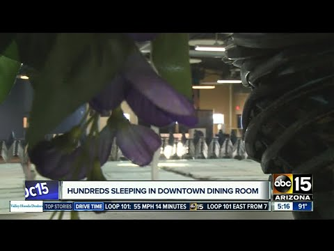 Homeless able to escape brutal summer heat in Phoenix