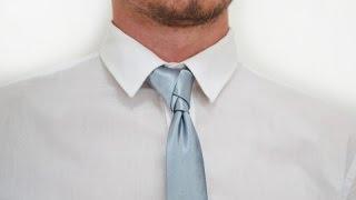 Как завязывать галстук узел Элдридж How to tie a tie knot Eldridge