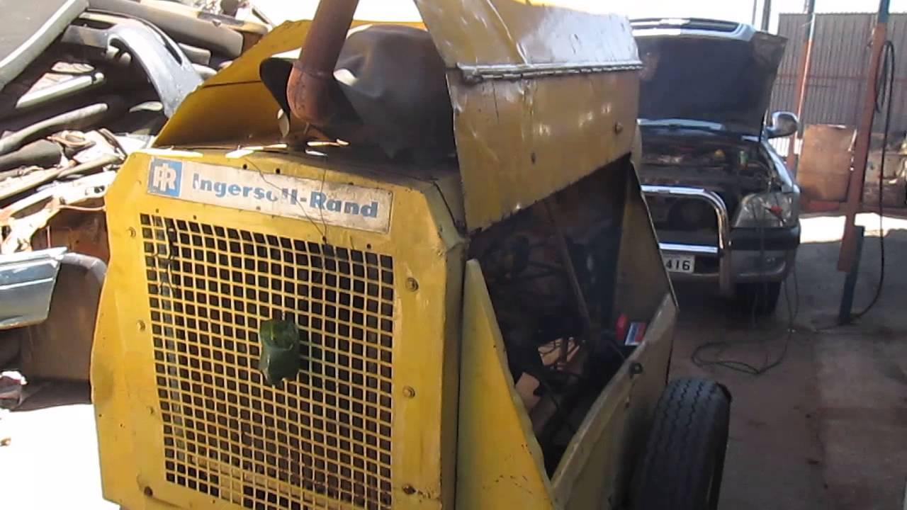 Compressor De Ar Ingersoll Rand Motor 224 Diesel Youtube