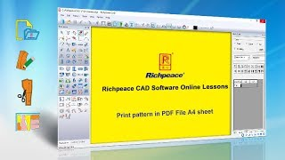 Richpeace CAD Software Online Lessons Tip of the day- Print pattern in PDF File A4 sheet (V9)