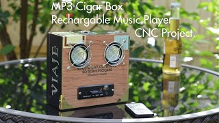 Mp3 Cigar box music player portable rechargable handmade CNC Shapeoko 2 x-carve