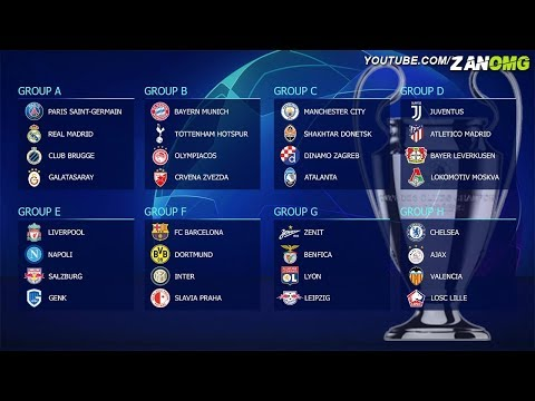 OFFICIAL | UEFA Champions League Group Stage 2019/20 Draw Result #UCLdraw