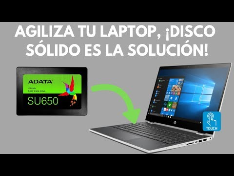 ¡Agiliza tu laptop con un disco de estado sólido! - HP x360 14-cd0003la
