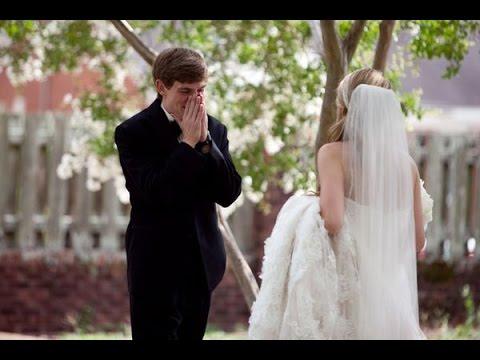 Как ведут себя женихи увидев своих невест в свадебном платье