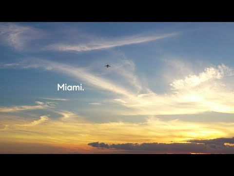 Drone Video of Miami Sunset & a Compass Billboard • Promoted on Instagram