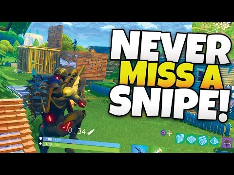 HEADSHOT EVERY KILL! - How To Never Miss A Snipe in Fortnite - [Tips & Tricks]