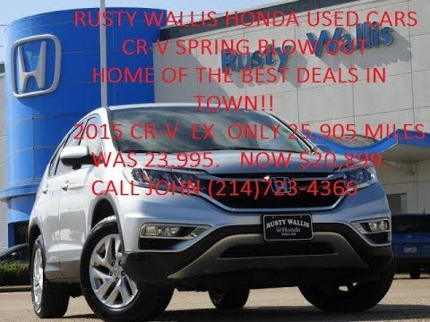 rusty wallis honda used cars and used trucks spring cr v blow out youtube. Black Bedroom Furniture Sets. Home Design Ideas