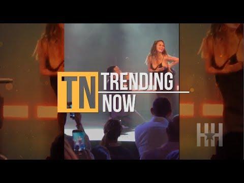 See Chrissy Teigen's Nip Slip During John Legend's Concert - Trending Now