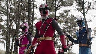 Enter Red, Blue & Pink Ninja Steel Rangers!