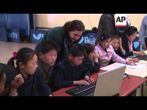 Blind children in North Korea learn computer skills