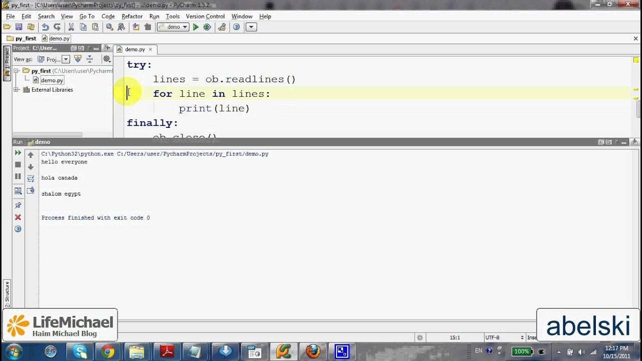 Python writelines