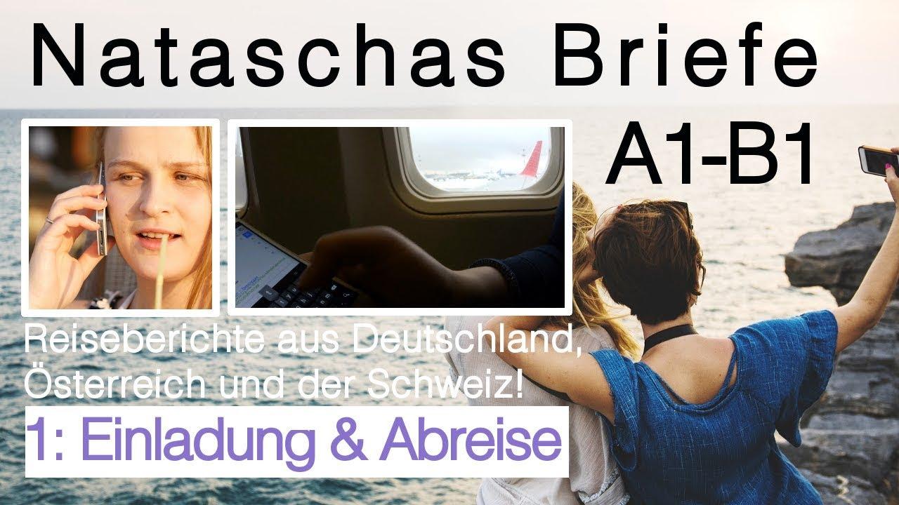 Brief Oesterreich Nach Deutschland : Brief deutsch prüfung schreiben quot einladung abreise