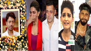 All Bollywood Celebs Latest EMOTIONAL Reaction On Irrfan Khan's Sudden SHOCKING News