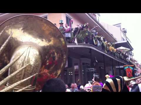Red Baraat Mardi Gras Second Line Fat Tuesday 2013