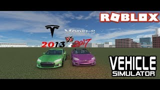 2013 vs 2018 Model S Roblox Vehicle Simulator