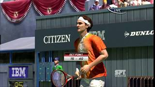 Virtual Tennis 3 Roger Federer vs Rafael Nadal