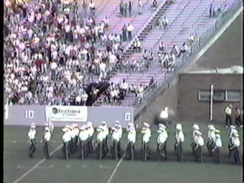 Citadel 1990 Football game with Band playing Dixie