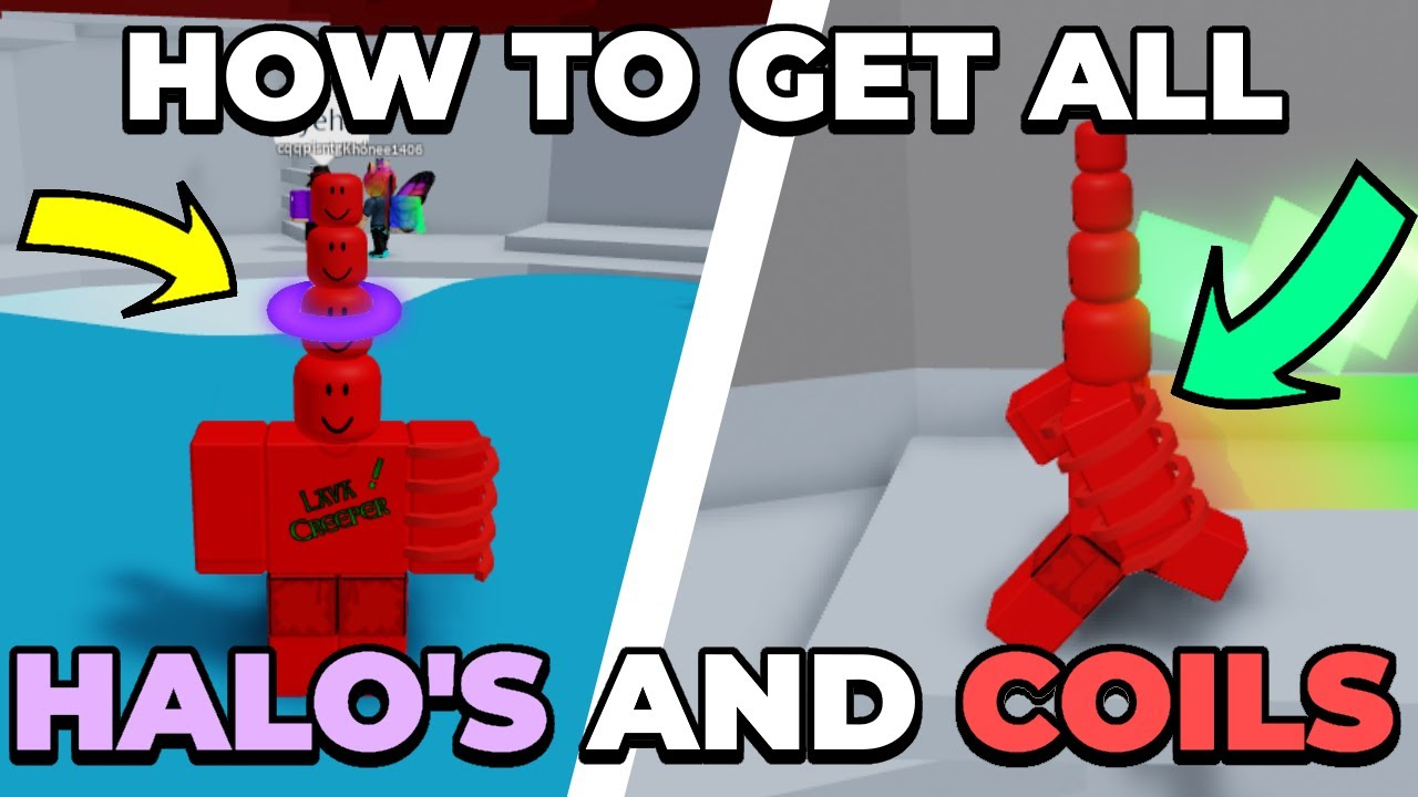 HOW TO GET ALL HALOS AND COILS IN TOWER OF HELL | (ROBLOX)