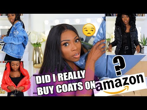 DID I REALLY BUY COATS ON AMAZON FASHION??? IM NOT EVEN SUPRISED WITH THIS ISH!