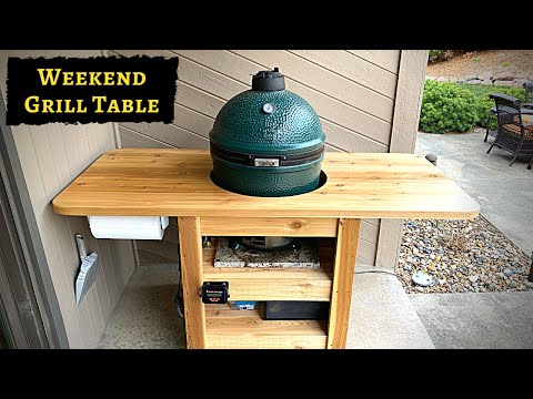 Modern DIY Green Egg Table - Detailed Plans and Instructions for this Modern Compact Grill Cart