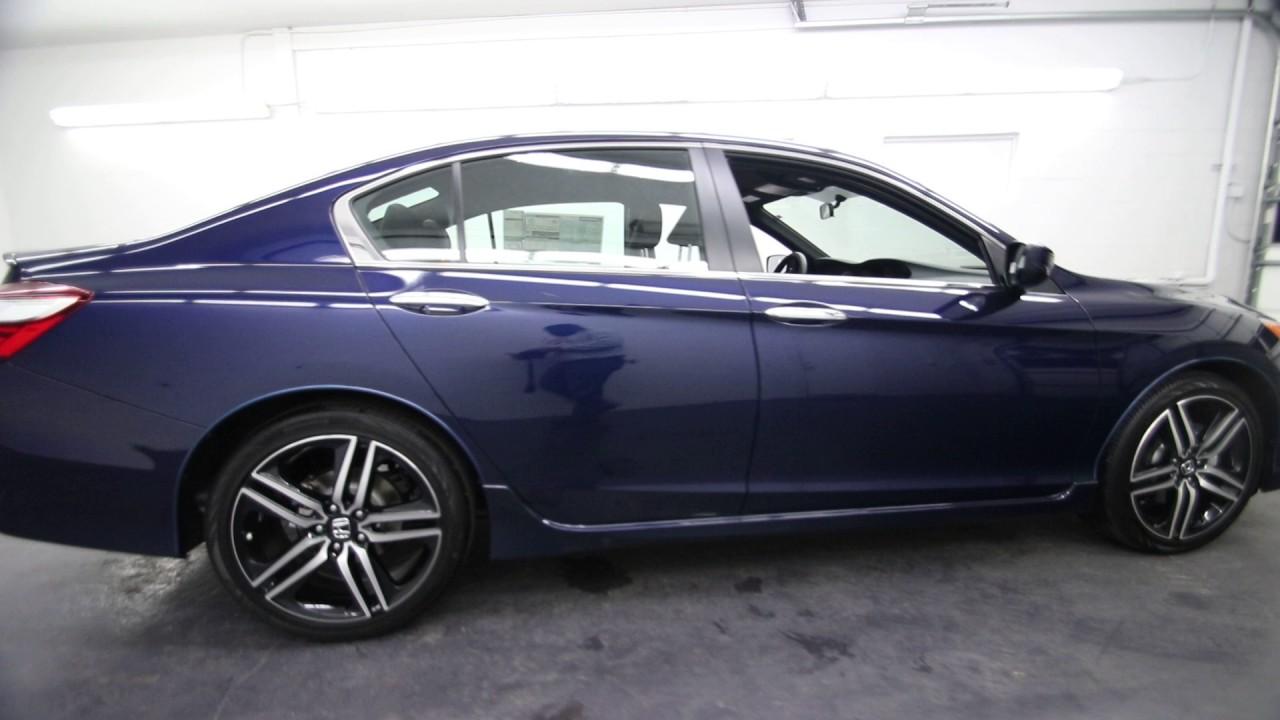 2017 Honda Accord Sport Obsidian Blue Pearl Ha170600 Seattle Burien On