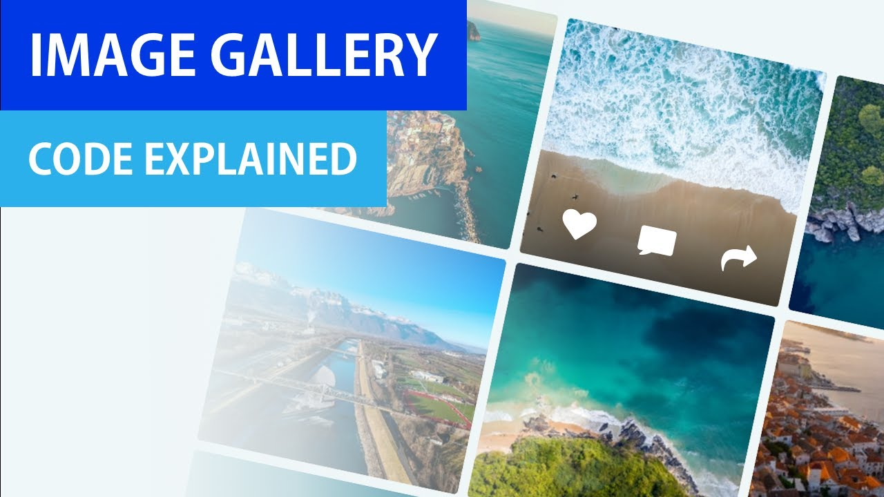 Image Gallery from Scratch   CSS Grid & Flexbox   HTML & CSS with Hover Effects