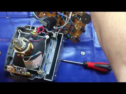 How does a CRT monitor work? Teardown of an old portable TV.
