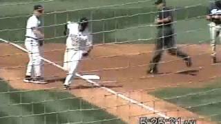 Brett Bonvechio Hits Homerun vs San Diego Padres Jake Peavy