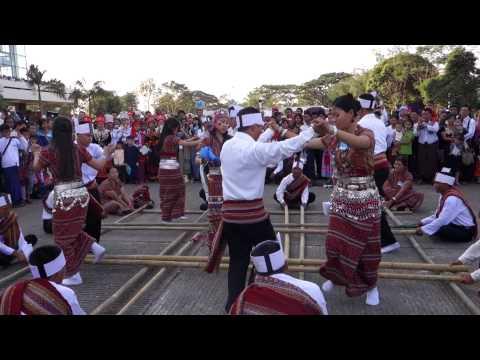 Traditional Chin Bamboo Dance Myanmar 2014