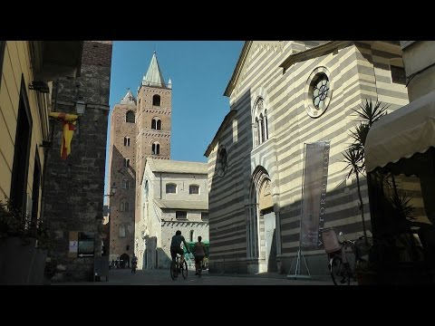 Italy - Region of Liguria - Small Town Albenga in the Province of Savona