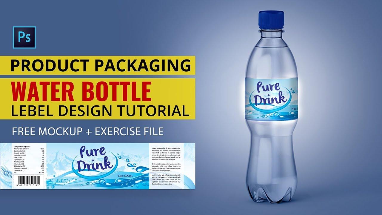Water Bottle Label Design In Photo