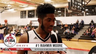 RISE Prep's Rahmir Moore finished with 20 pts in win over Ridley College
