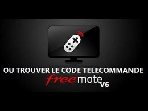 comment trouver le code telecommande free
